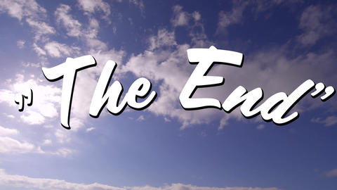 The End sign and the sky Animation