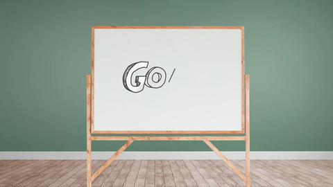 Goal text in a white board Animation