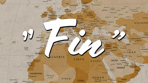 Fins sign and world map Animation