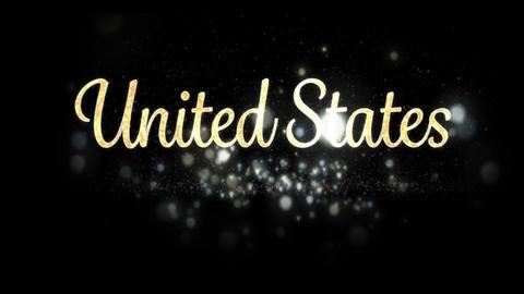 United States text 4k Animation