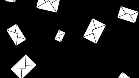 Message envelopes 4k Animation