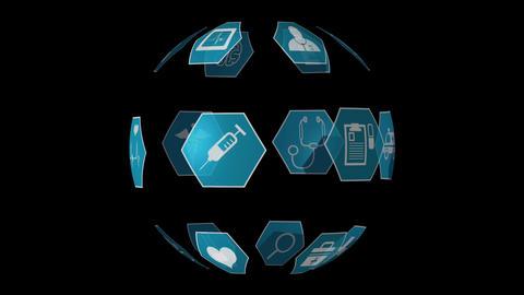 Medical icons 4k Animation