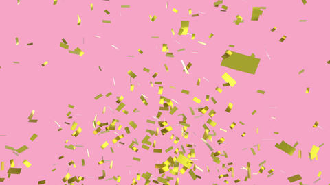 Gold confetti falling Animation