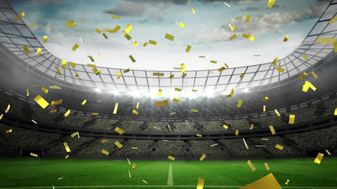 Football stadium celebration Animation