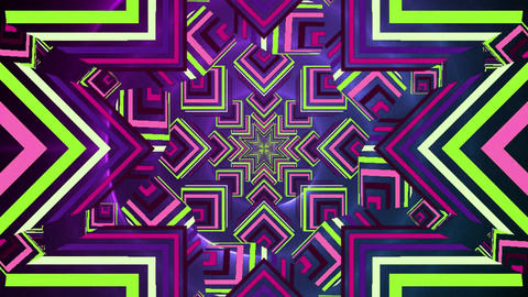 Colourful abstract stars moving and rotating Animation