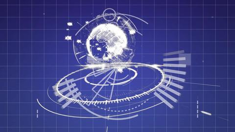 Digital globe and program codes Animation