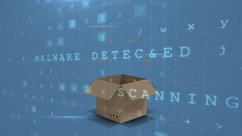Digital security and a box Animation