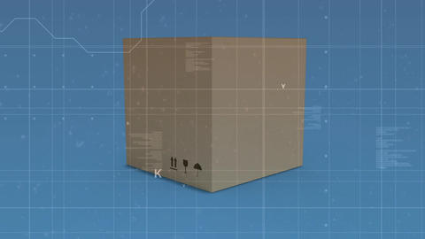 Program codes and a box Animation