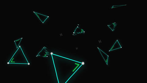 Bright triangle shaped lights Animation