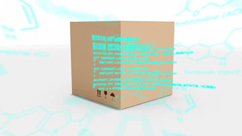 Box and chemical structures with program codes Animation
