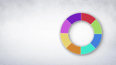 Wheel with different colors Animation