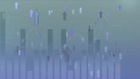 Arrows moving up with statistics Animation