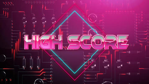 High score pink game screen Animation