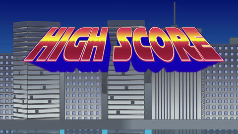 High Score sign Animation