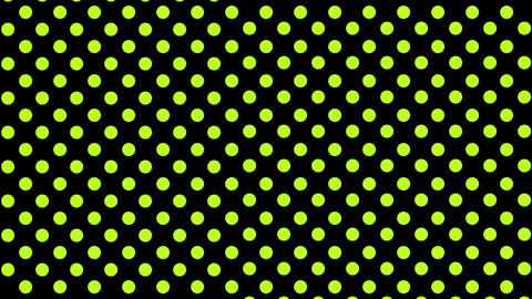 Pulsating yellow dots on black Animation