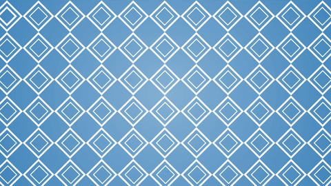 Blue patterned wallpaper opening to reveal black and white rotating lines Animation