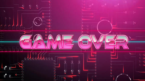 Pink game over game screen Animation