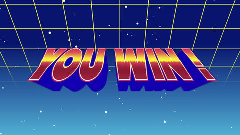 You Win! sign Animation