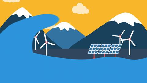 Eco energy landscape Animation