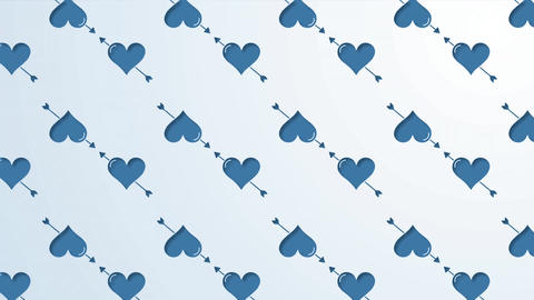 Heart wallpaper peeling back to reveal heart balloon floating in blue sky Animation