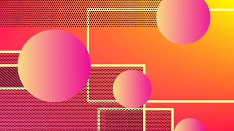Orange balls on orange and pink background Animation