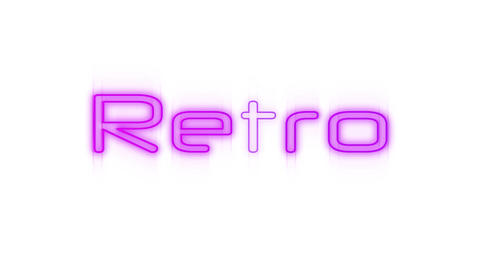 Retro in pink neon Animation