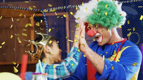 A clown and a boy Animation