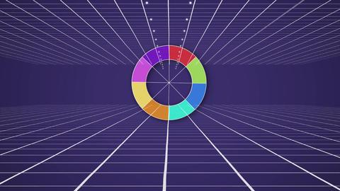 Colourwheel on moving purple background Animation