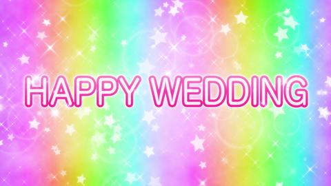 happy wedding おめでとう メッセージ 動画 ループ CG動画