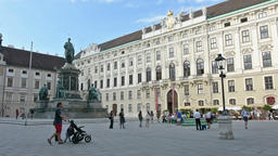 inner square in Hofburg building in Vienna, Austria Footage
