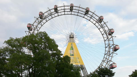 the great Ferris wheel at the Prater in Vienna Footage