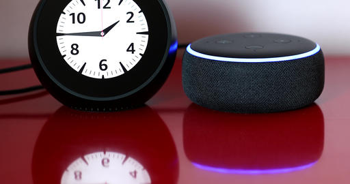 Amazon Echo Spot With Echo Dot Personal Smart Assistant Live Action