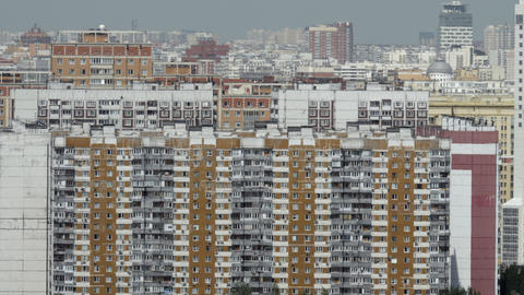 Apartment houses in densely populated city. Moscow, Russia Acción en vivo