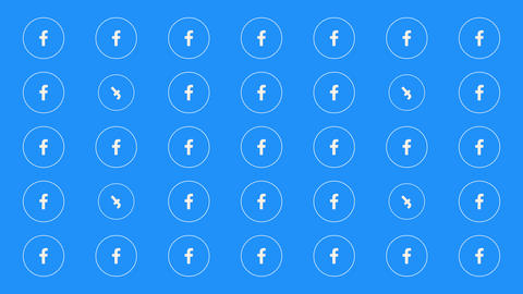 Moscow, Russia - December 9, 2019: Motion icons of Facebook social network on simple background Animation