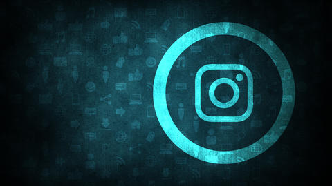 Moscow, Russia - December 9, 2019: Motion icons of Instagram social network on simple background Animation