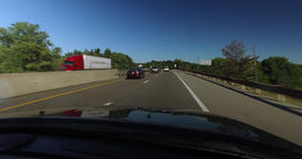 Driving Perspective on the Pennsylvania Turnpike Footage