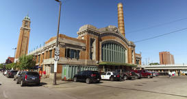 Driving Past the West Side Market in Cleveland, Ohio Footage