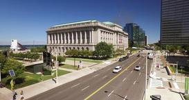Cleveland City Hall High Angle Establishing Shot Footage