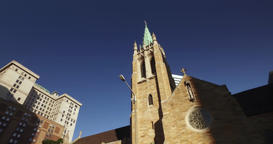 Driving Establishing Shot of The Cathedral of St. John the Evangelist Footage