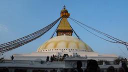 Boudha Stupa Kathmandu Nepal Footage
