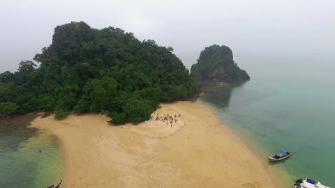 aerial photography Islands in Phang Nga Footage