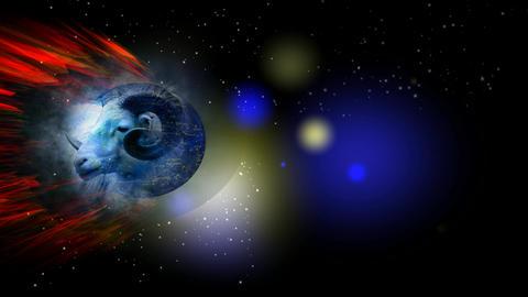 260 3D animated ZODIAC horoscope astrology symbol ARIES Animation