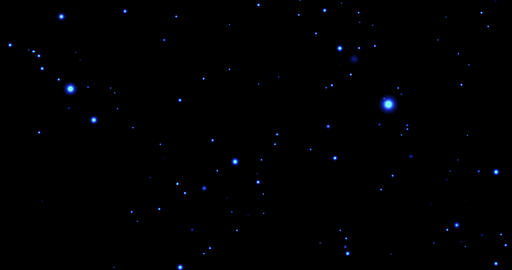 abstract cosmic stars movement blue energy on black background, planetarium Live Action