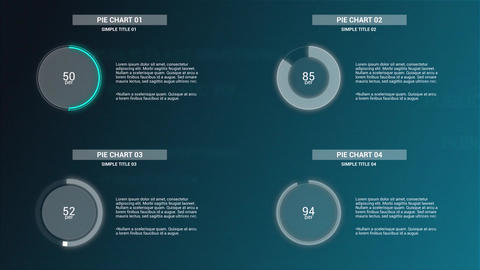 Infographics: Simple Pie Charts V2 Motion Graphics Template