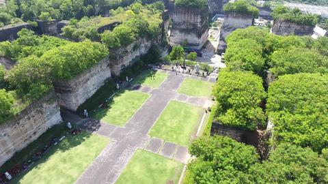 Aerial footage of the Garuda Wisnu Kencana Cultural Park on Bali, 4k Live Action