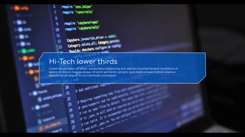 Hi-Tech Lower Thirds After Effects Template