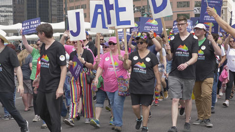Jared Polis Campaigning for Governor of Colorado at PrideFest Celebration Live Action