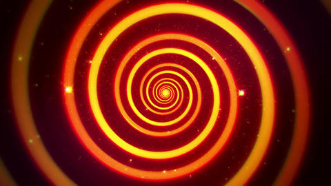 Orange Hypnotic Spiral VJ Loop Motion Background Animation