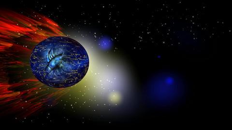 285 3d animated zodiac horoscope astrology symbol SCORPIO Animation