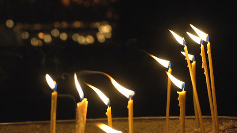 Church Lighted Candles Live Action